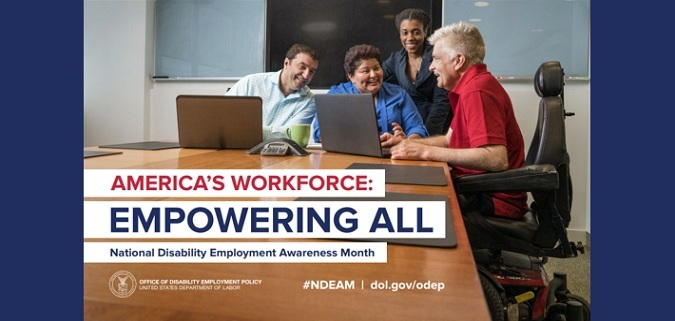National Disability Employment Awareness Month graphic